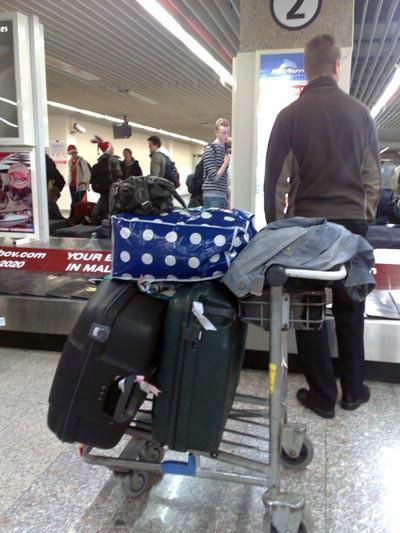 Vi väntar på väskor